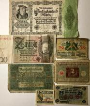 Lot of 1920's German Nazi Currency/Bank Notes