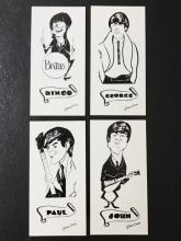 1964 The BEATLES Art Cards by GORDON CURRIE