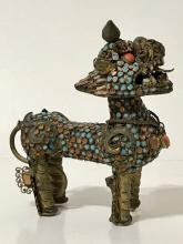 19th Century Chinese Folk Art Dragon Snuff Bottle