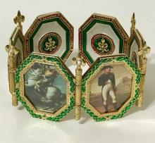 Breathtaking FABERGE Enameled Scroll Frame Collage
