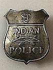 Rare Old West Indian Police/Lawman Badge