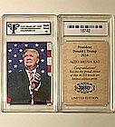 Very Rare DONALD TRUMP - LTD Brush Art Card