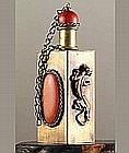 Old Chinese Hallmarks Inlaid Gemstone Snuff Bottle