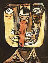 Attributed to: OSWALDO GUAYASAMIN (Ecuatorian, 1919-1999)