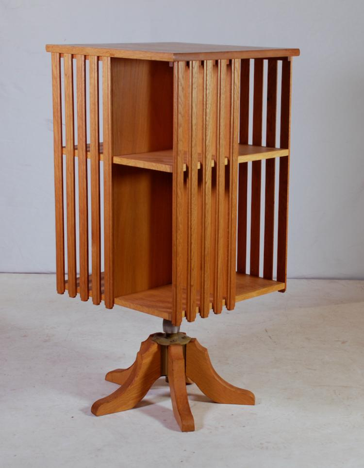 An Oak Revolving Bookcase 20th Century