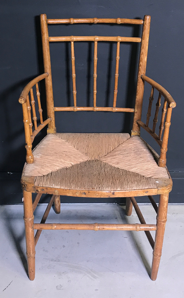 A faux bamboo armchair Home furniture auctions cape town