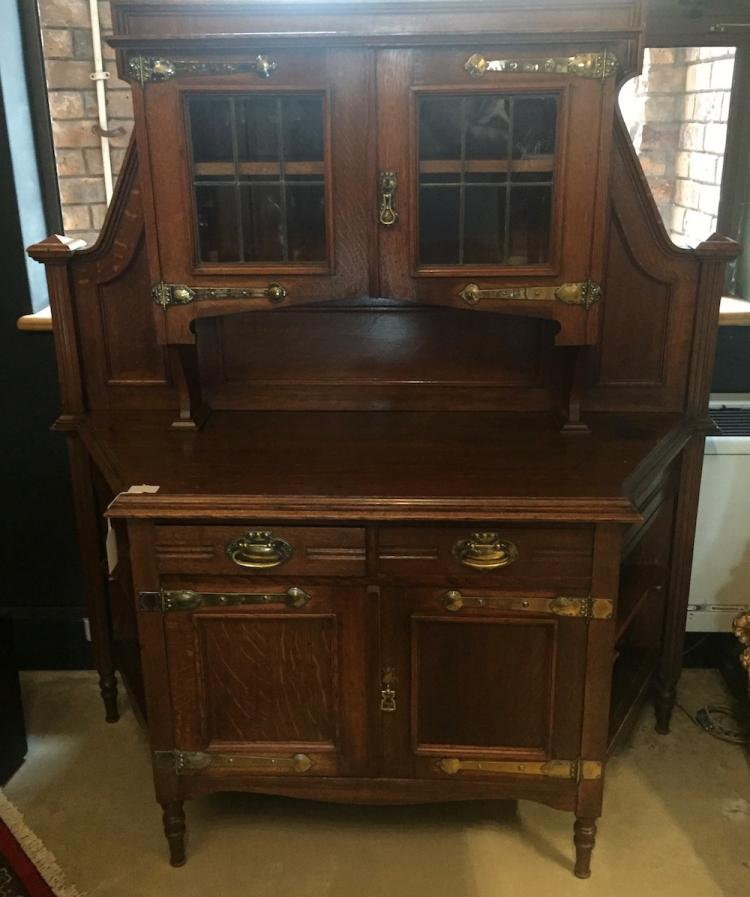 An arts and crafts oak sideboard display late 19th century Home furniture auctions cape town
