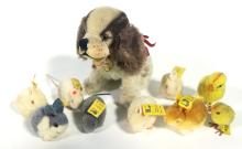 A Collection of Ten Steiff Stuffed Animals, 1950s,