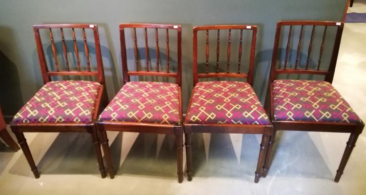 A Set Of Four Castlebros Mahogany Dining Chairs