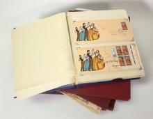 A Set of Six Stamp and First Day Cover Albums,