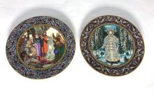 Two Villeroy & Boch 'The Snow Maiden' Plates, 1980-1983