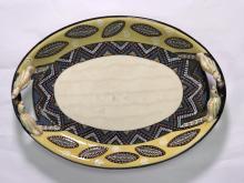 A Pottery Studio Two-handled Dish by Siyabonga Fani