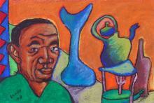 Man with Green Tea Pot