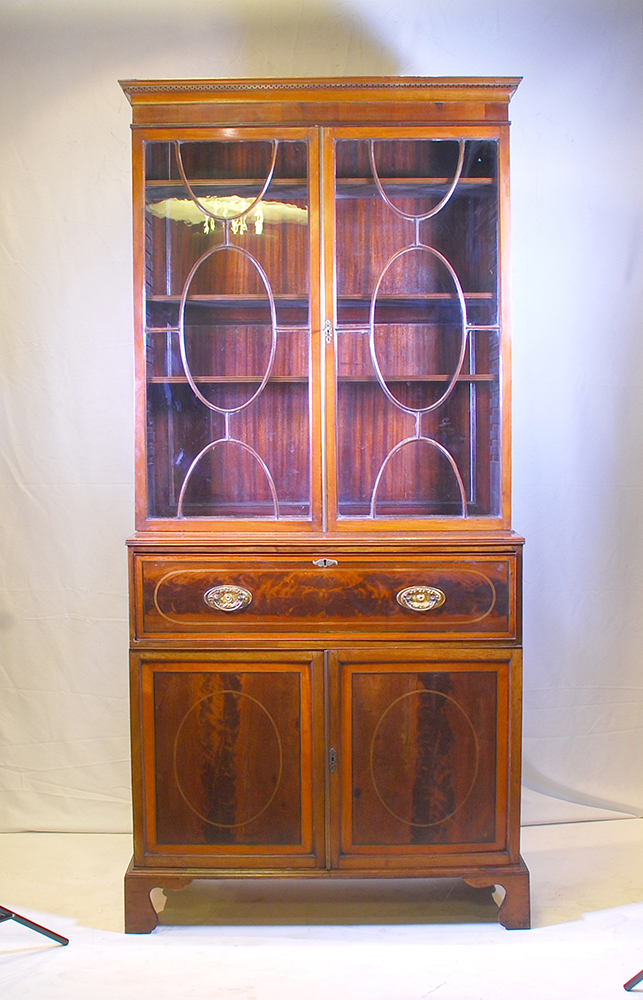 A George Iii Mahogany Secretaire Bookcase 19th Century