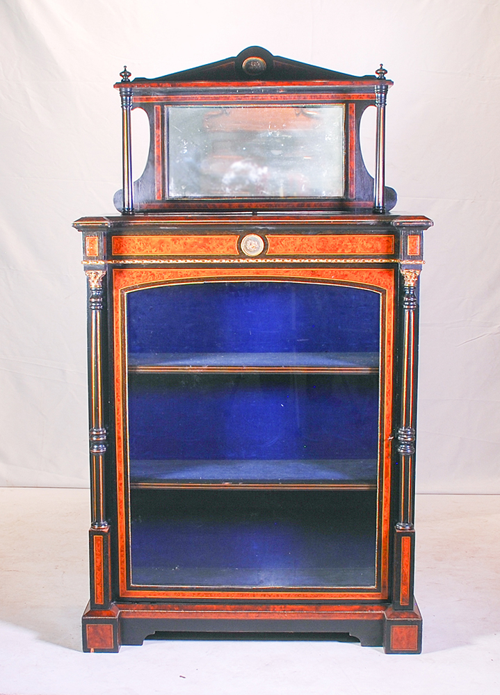 A Victorian Walnut And Ebonised Chiffonier 19th Century