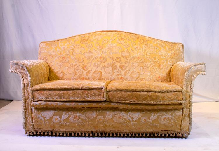 A vintage upholstered two seater sofa 20th century Home furniture auctions cape town