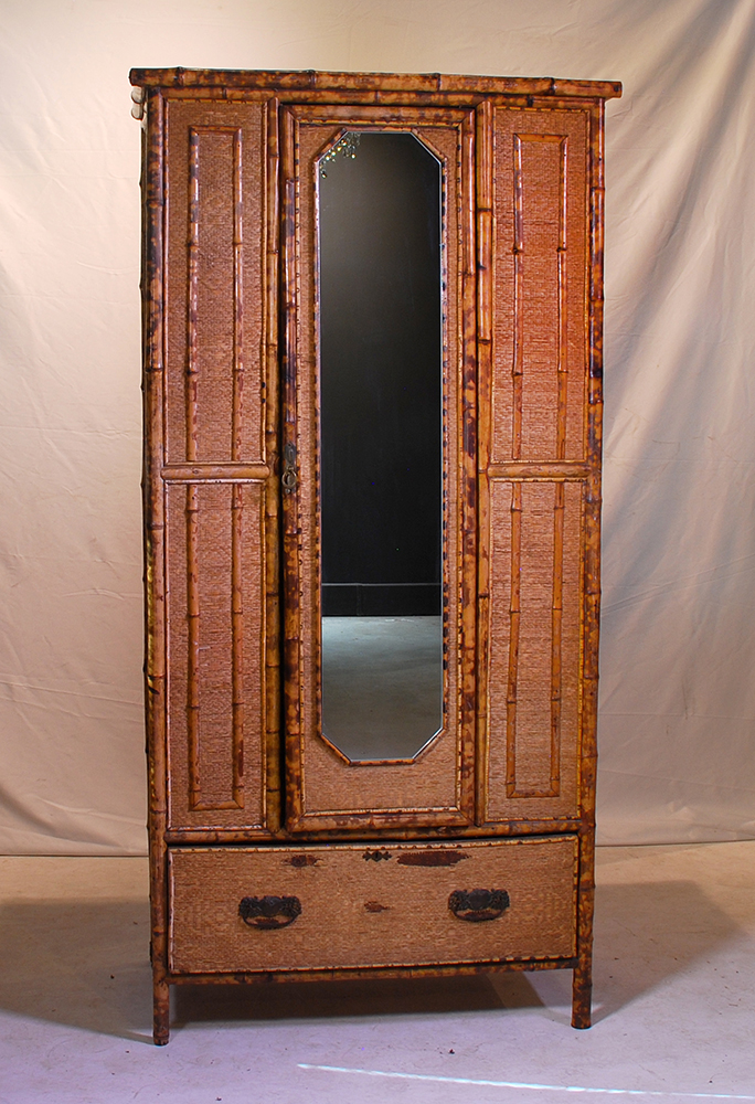 A victorian bamboo and wicker clad cupboard late 19th centu Home furniture auctions cape town