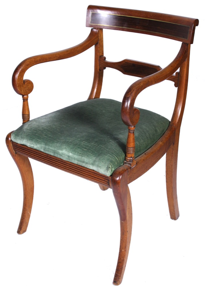 A Regency Mahogany Armchair 19th Century