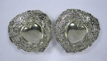 A Pair Of Victorian Silver Bon-Bon Dishes, Indecipherable Makers Mark, Chester, 1895