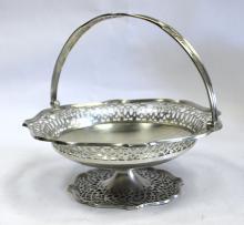 A George V Silver Basket, Blackmore & Fletcher Ltd, London, 1913