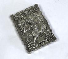 An Indian Silver Card Case