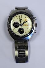 A Tissot Navigator Lemania Stainless Steel Wristwatch