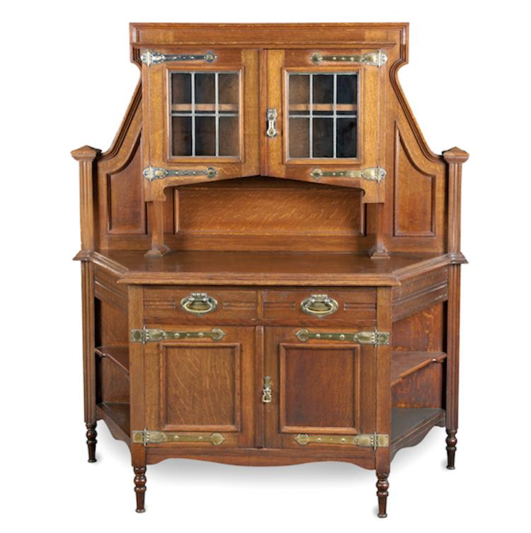 An early 20th century oak arts and crafts sideboard Home furniture auctions cape town