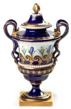 A Royal Worcester Two-Handled Pedestal Vase And Cover, 20th Century
