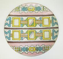 A Kalahari Terracotta Plate, 1950s