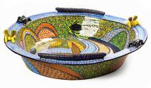 A Large Ardmore Bowl By Zeblon Msele, 2005