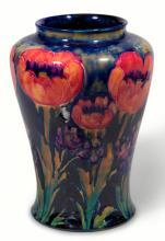 A Large William Moorcroft 'Big Poppy' Pattern Vase, 1916 - 1918