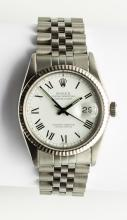 A Rolex Oyster-Perpetual Datejust Stainless Steel and 18ct White Gold Wristwatch