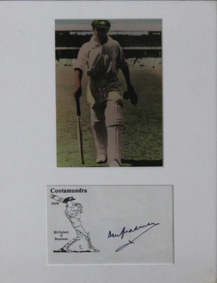 A Donald Bradman autograph on a NSW Letterhead