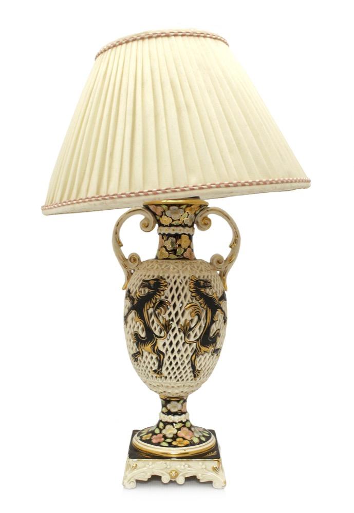 An Italian Reticulated Lamp Base