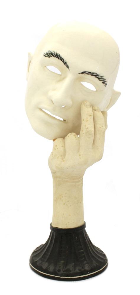 Philip Barrett (1958-): A Ceramic Black and White Lamp