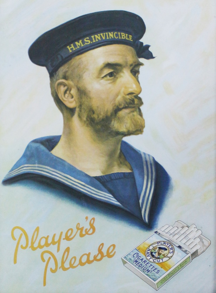 A Players Navy Cut Cigarette Advertising Print, 1940s