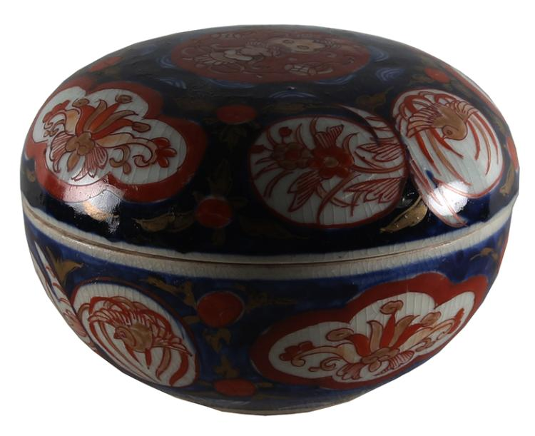 A Japanese Imari Bowl and Cover, Meiji
