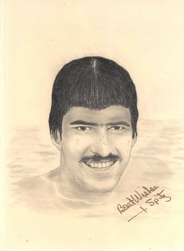 Mark Spitz Original Signed Pencil Sketch