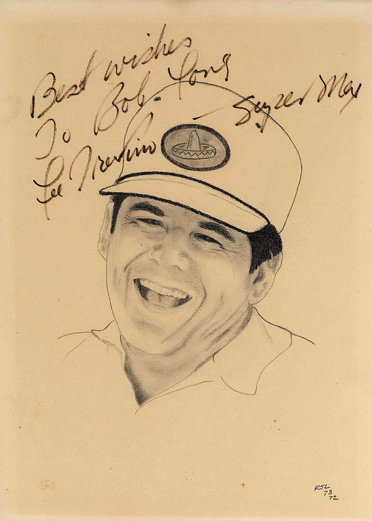 Lee Trevino-Super Mex Signed Original portrait