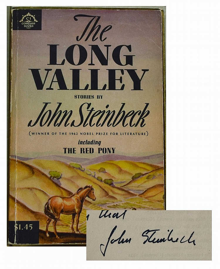 John Steinbeck : Inscribed and Signed The Long Valley stories