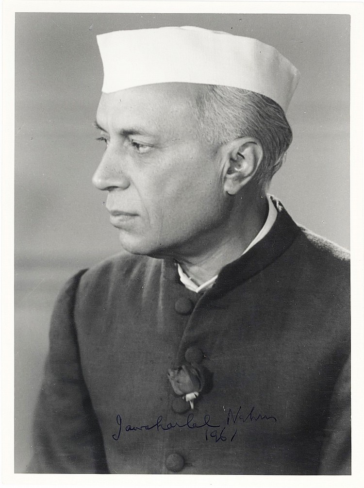 Jawaharlal Nehru Signed Photo