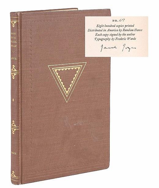 James Joyce Signed Book