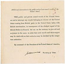 James Monroe Privateer Signed Document