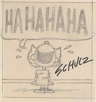 Original Schulz Sketch of Lucy
