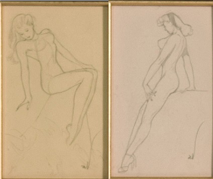 Joaquin Alberto Vargas Original Pin Up Drawings