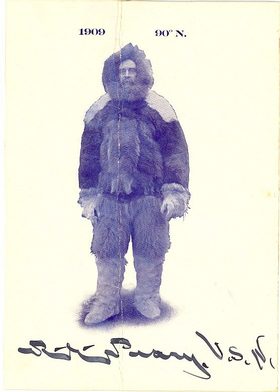 Robert Peary Signed Photo In North Pole Outfit!