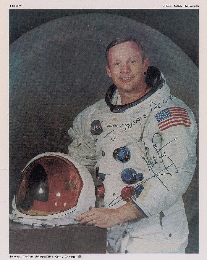 Neil Armstrong Signed Astronaut Photo