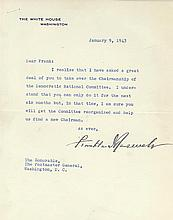 Franklin D. Roosevelt Ask's Walker to become Chairman of the  DNC