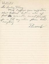 Franklin D. Roosevelt Rare ALS as President
