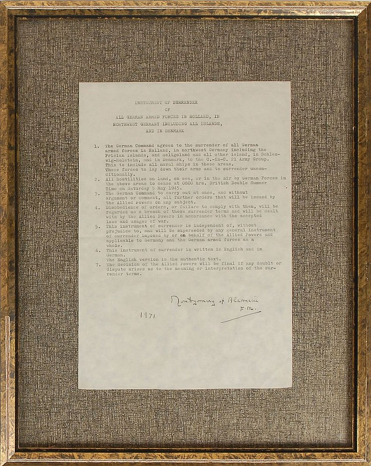 Montgomery of Alamein (Instrument of Surrender )